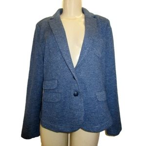 WHISTLES Blue Knit Sweater Jacket Size 12